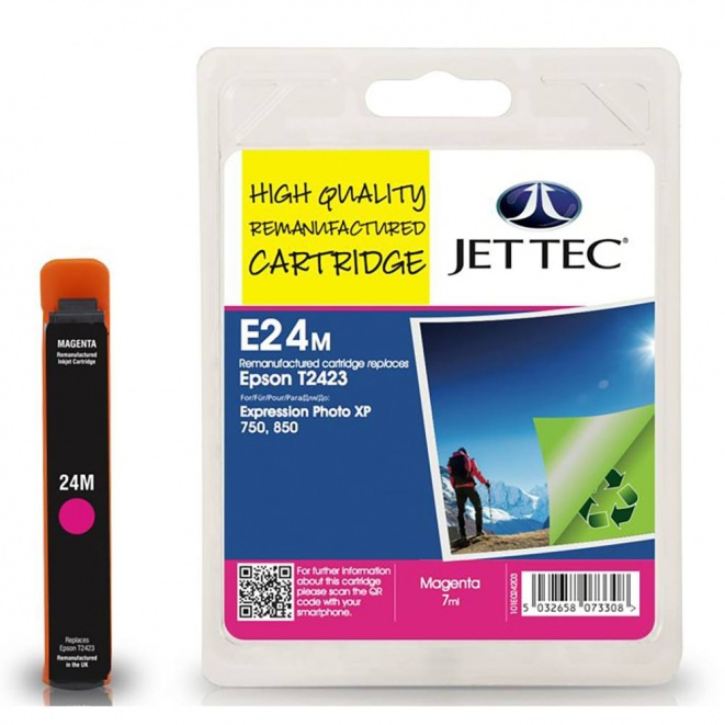 Epson T2423 Magenta Remanufactured Ink Cartridge by JetTec  E24M