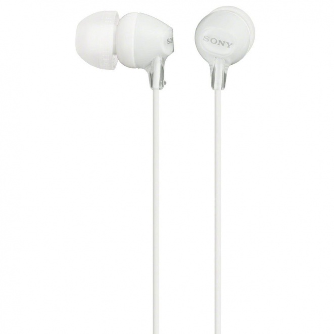Sony EX15LP InEar Headphones  White