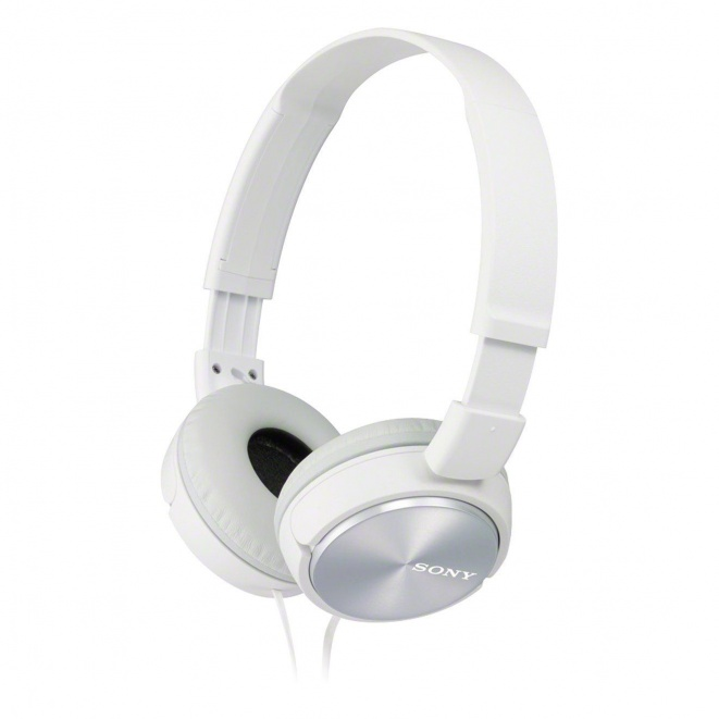 Sony MDR-ZX310 On-Ear Headphones - Metallic White