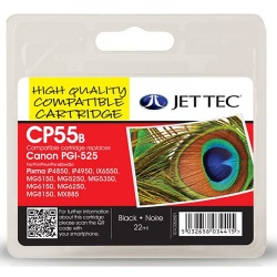 Canon PGI-525 Black Remanufactured Ink Cartridge by JetTec - CP55B