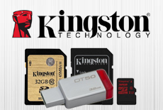 Kingston Flash Memory Cards - USB, Micro SD, SDHC, SDXC, SSD