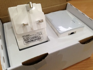 Use the TP-Link Powerline adapter to avoid a WiFi deadspot