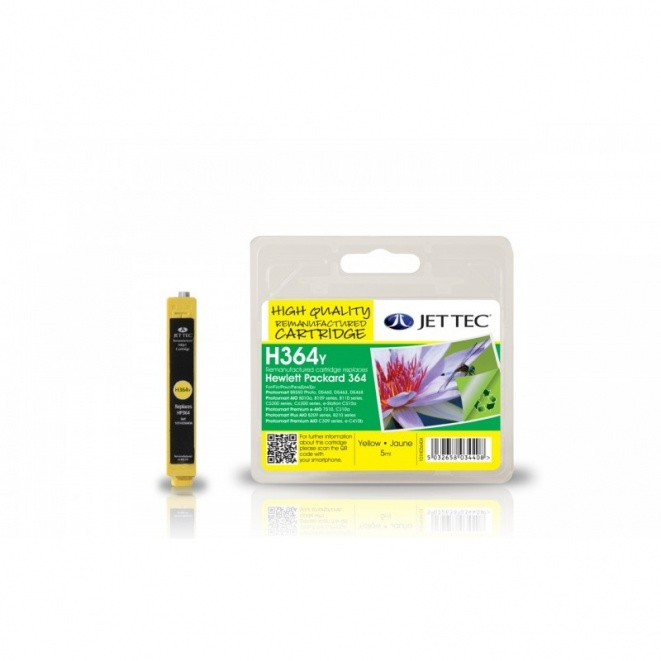 HP364 CB320EE Yellow Remanufactured Ink Cartridge by JetTec  H364Y