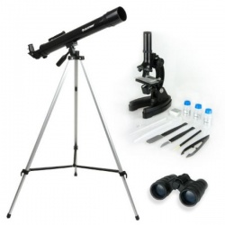 Image of Celestron Telescope Microscope Binocular Science Kit