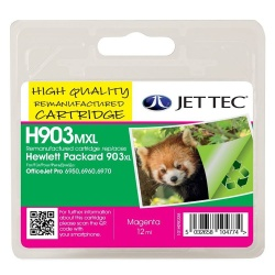 Image of HP903XL Magenta Remanufactured Ink Cartridge by JetTec H903MXL