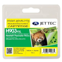 HP903XL Yellow Remanufactured Ink Cartridge by JetTec H903YXL