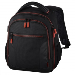 "Image of Hama ""Miami"" Camera Backpack, 150, black/red"