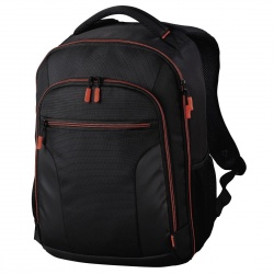"Image of Hama ""Miami"" Camera Backpack, 190, black/red"
