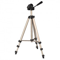 Image of Hama Star 75 Tripod 1/4 Working height=42.5 - 125 cm Champagne incl. bag, Level