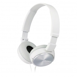 Sony MDRZX310 OnEar Headphones Metallic White
